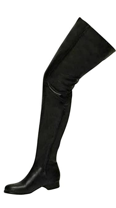 Erogance 3 cm Blockabsatz Stiefel Kunstleder Overknees Schwarz A3604/EU 44 wcK6XWVZ7r