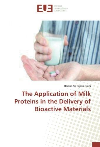 Read Online The Application of Milk Proteins in the Delivery of Bioactive Materials pdf epub