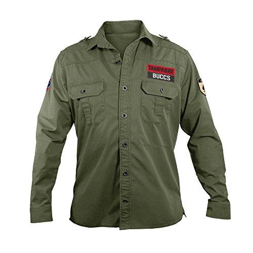 NFL Tampa Bay Buccaneers Men's Military Field Shirt, Large