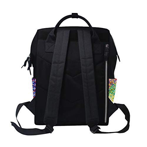Capacity Travel Mummy Bag Muti for Women Multi7 Sunflower Function Large Retro Canvas Backpack Art Bag xZ87Xwnv