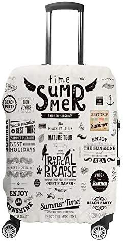 スーツケースカバー トラベルケース 荷物カバー 弾性素材 傷を防ぐ ほこりや汚れを防ぐ 個性 出張 男性と女性夏の季節