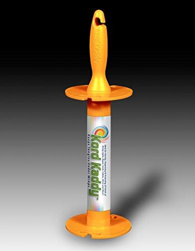 Christmas Storage Reels, Line Winder Rope Storage Organizer, Cord Winder - Kord Kaddy Patent Pending (Orange)