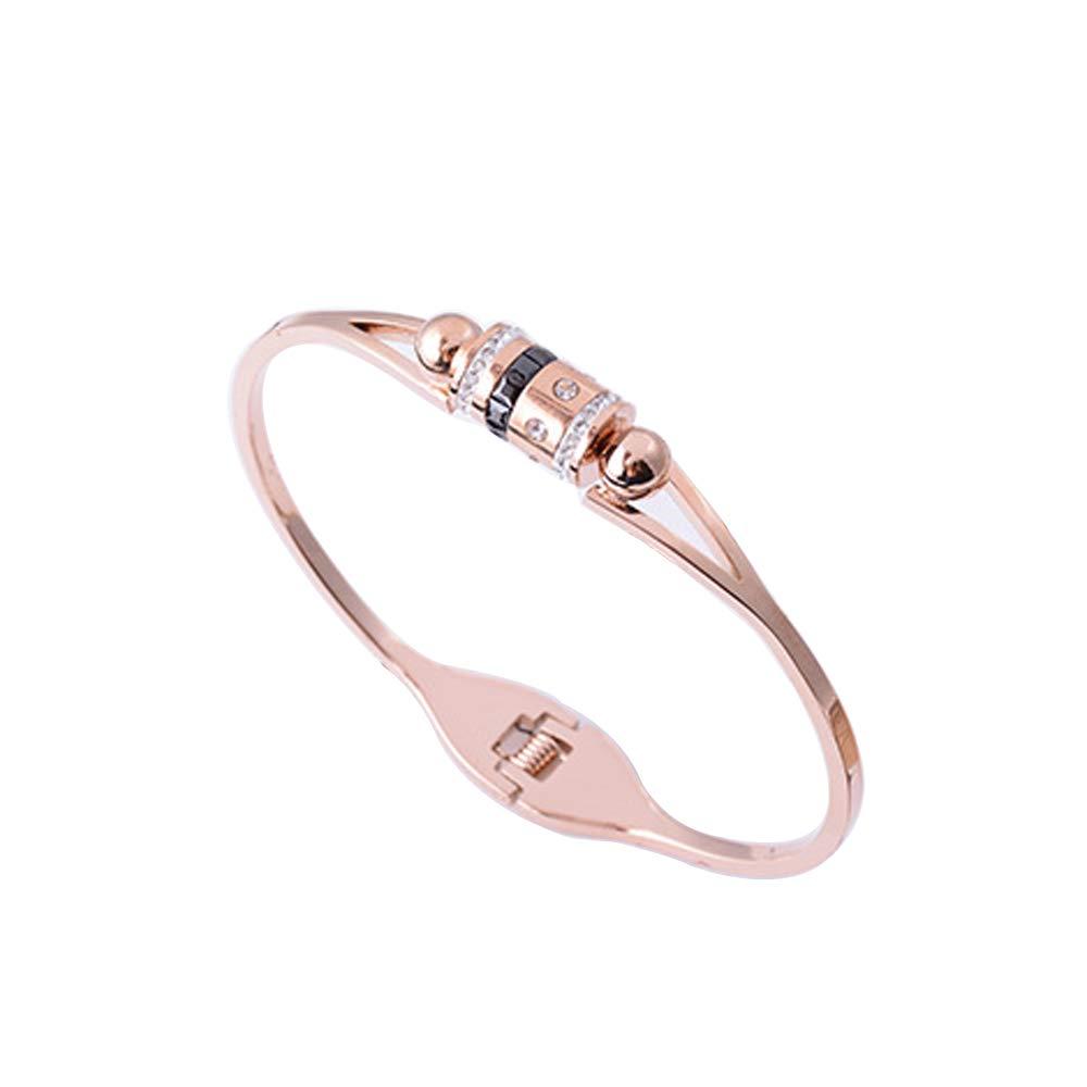 prix compétitif a7d73 ff01e YCL Home Women 18K Rose Gold Titanium Bracelet Diamant Noir ...