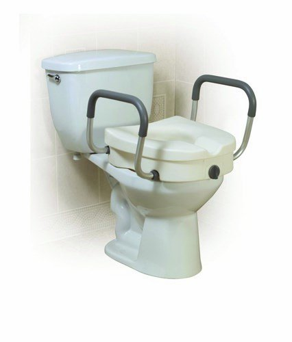 Drive Medical (a) Elevated Toilet Seat W/Arms 2-In-1locking Tool-Free Retail