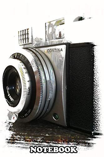 """Notebook: Vintage 35mm Camera , Journal for Writing, College Ruled Size 6"""" x 9"""", 110 Pages"""