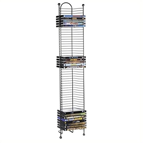 Pemberly Row 43'' Nestable DVD Tower in Gunmetal by Pemberly Row
