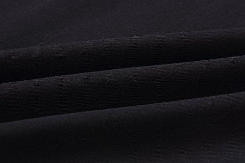 Rond et Blouse Tunique Tops Dentelle Automne Shirts Longues Col Printemps Casual Freestyle pissure Fashion Manches Shirts Tees Hauts Femmes Elgante Chemisiers Noir T 580wUx
