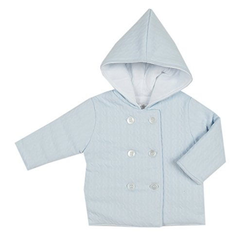 Kissy Kissy Baby Boys Cable Couture Jacquard Padded Jacket - Blue-0-3mos Pima Cotton Cable