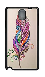 Fashion Style With Digital Art - Colourful Feathers Skid PC Back Cover Case for Samsung Galaxy Note 3 N9000