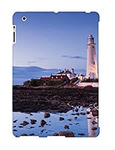 Defender Case For Ipad 2/3/4, Buildings Lighthouse Ocean Pattern, Nice Case For Lover's Gift wangjiang maoyi