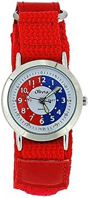 The Olivia Collection Time Teacher Red Easy Fasten Watch + Telling Time Award