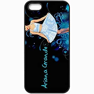 Personalized iPhone 5 5S Cell phone Case/Cover Skin Ariana Grande Black