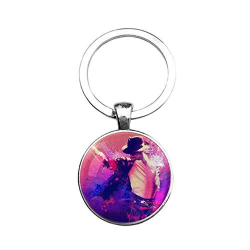 MJ Michael Jackson Key Chain Key Ring Pendant Lord Of Dance Poster Print Keychain Billie Jean For Preformance Fans T Shirt Gift