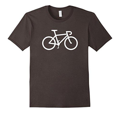 (Mens Road Bike Icon Speed Racing Sports Cyclist T-shirt Medium Asphalt)