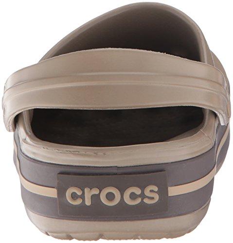 Crocs Crocband Clog, Zuecos con Correa, Unisex Marrón (Khaki/Espresso)