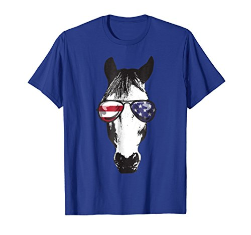 Funny Horse Shirts - Funny Horse America Flag Patriotic Shirt - 4th of July