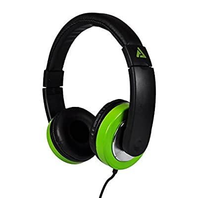 Audio Council Titan On-Ear Stereo Headphones Sleek Design with Chrome Accents for Teens Men Women Comfortable Headset for Computer, PC, Laptop, Tablets, iPhone, Smartphones (Black/Neon Green)