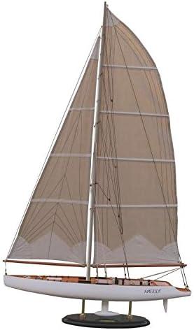 Batela America Modell Boot, Holz, Weiß/Braun, 8,5 x 35 x 13 cm