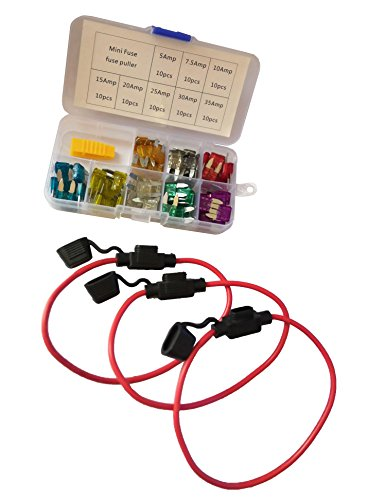 KOLACEN Automotive Car Truck 5 Pieces 16 Gauge Add-a-circuit Fuse TAP Adapter