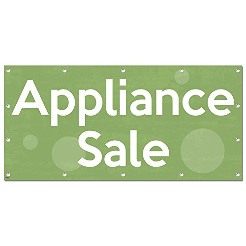 Graphics And More Appliance Sale   Retail Store Business Sign Banner   96   Width  X 46   Height