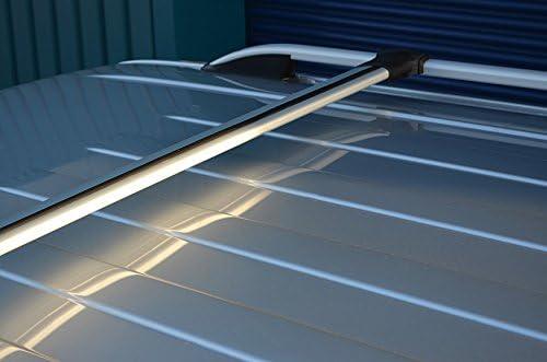 Alvm Parts /& 2015+ Accesorios ALU Cross Bar Rail Set para Adaptarse a Barras Laterales de Techo para Adaptarse a L200