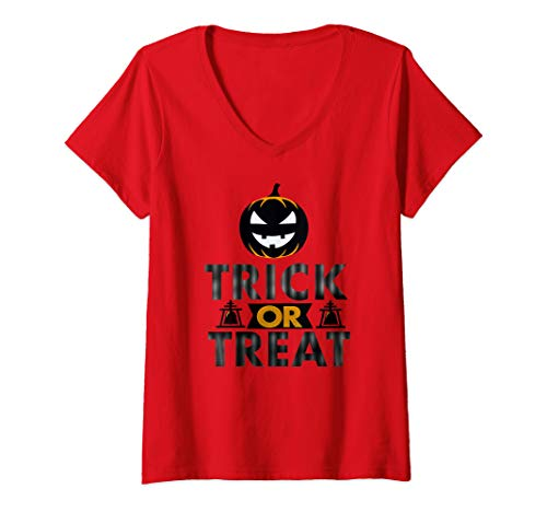 Womens Riverside California Halloween V-Neck T-Shirt