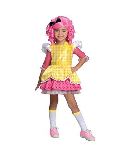 Lalaloopsy Tv Show Crumbs Sugar Cookie Girls Halloween Costume deluxe - Deluxe Crumbs Sugar Cookie Girls Costumes