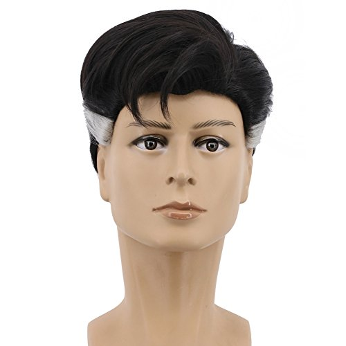 Yuehong Short Black Curly Wig Party Wigs For Men Cosplay Costume Halloween ()
