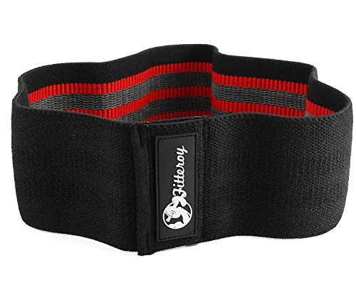 Grippy Circle Resistance Hip Band – Loop Glute Bands for Exercise Warm-ups – Squat Band for Stronger Glutes and Thighs – Use for Fitness, Gym and Physical Therapy - Medium