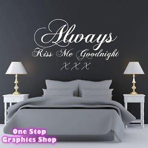 1stop Graphique Magasin Always Embrasse Moi Bonne Nuit