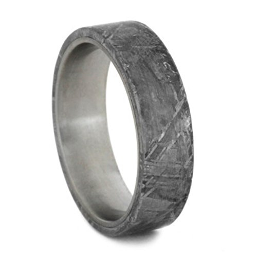 Gibeon Meteorite 6mm Comfort-Fit Matte Titanium Wedding Band, Size 9.5 by The Men's Jewelry Store (Unisex Jewelry)