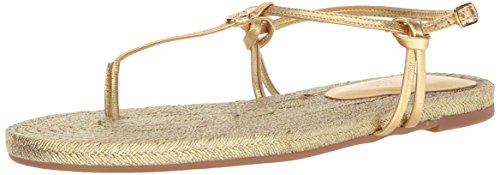 Lauren Ralph Lauren Women's Makayla-Espadrilles-Casual Flat Sandal, Rl Gold, 7 B US ()