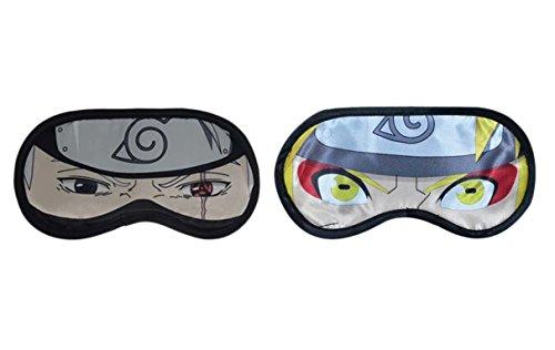 Anime Naruto COS Eye Patch Comfortable Sleeping Eye Shade Mask 2pcs/set (Hatake Kakashi + Uzumaki Naruto) - Kakashi Hatake Mask