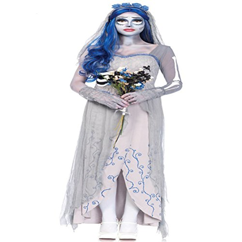JUIOKK Women's Emily Ghost Bride Halloween Cosplay Costume Fancy Dress