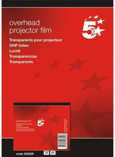 5 Star Office 333239 Kopierfolie DIN A4 Polyester 0.10 mm, 100 Pack, klar transparent