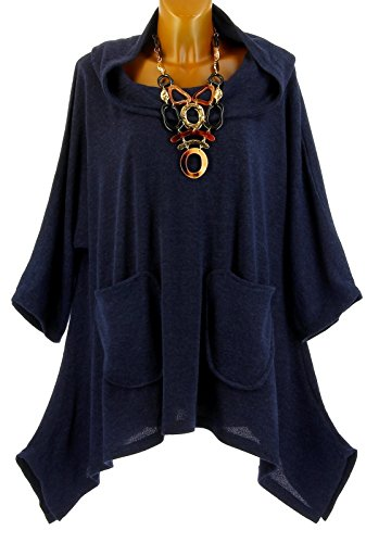 Capuche Blanca Bleu Bleu Bleu Grande Hiver asymtrique bohme Tunique Charleselie94 Taille EaqAwPA