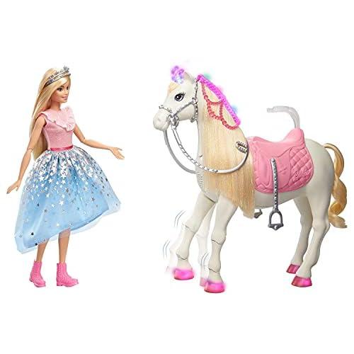 chollos oferta descuentos barato Barbie Princess Adventures Prance y Shimmer Caballo y muñeca Rubia Regalo niños 3 años Mattel GML79 Embalaje estándar