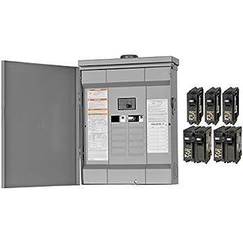 Square D Homeline Main Breaker Plug On Neutral Load Center Cover Value Pack