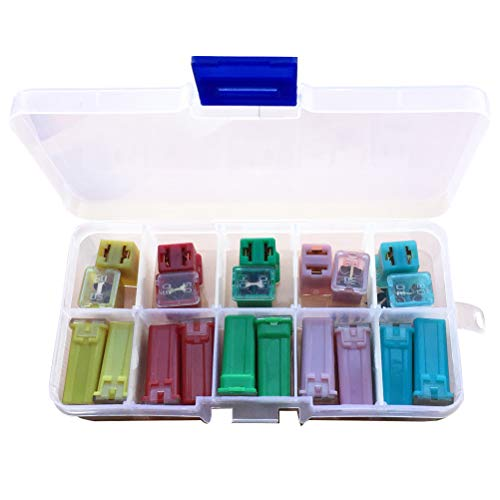 - 20 Pcs Jcase Box Shaped Fuse Kit,Uspacific Mini Blade Fuses 20A.30A,40A,50A,60A Set for SUV, Ford GM/Chevy Nissan, Toyota Pickup Trucks Cars