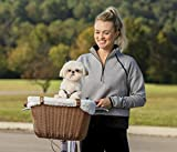 Image of PetSafe Solvit Tagalong Wicker Bicycle Basket, Dog Carrier for Bikes, Best for Dogs Up to 13 lb.