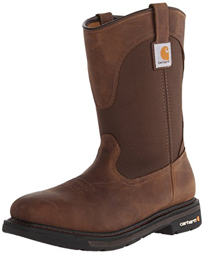 """Carhartt Men's 11"""" Wellington Square Safety Toe Leather W..."""