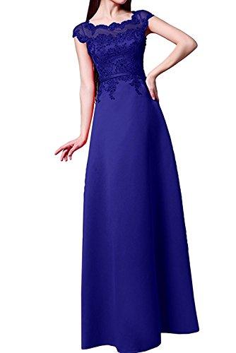 mit Braut Abendkleider Kleider Spitze La Royal Blau Jugendweihe Marie Festlichkleider Brautmutterkleider Damen YqRqw