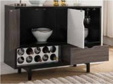 Smart home 151369 Contemporary Wine Cabinet Buffet Table