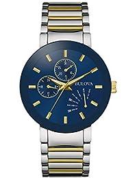 Men's Quartz Stainless Steel Dress Watch, Color:Two Tone...