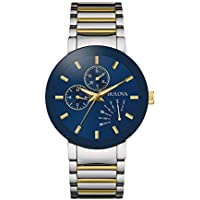 Bulova Men's Quartz Stainless Steel Dress Watch, Color:Two Tone (Model: 98C123)