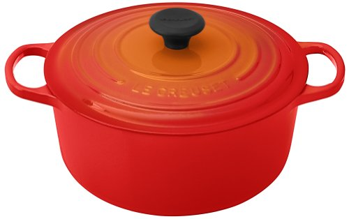 Le Creuset Signature Enameled Cast-Iron 5-1/2-Quart Round French (Dutch) Oven, Flame