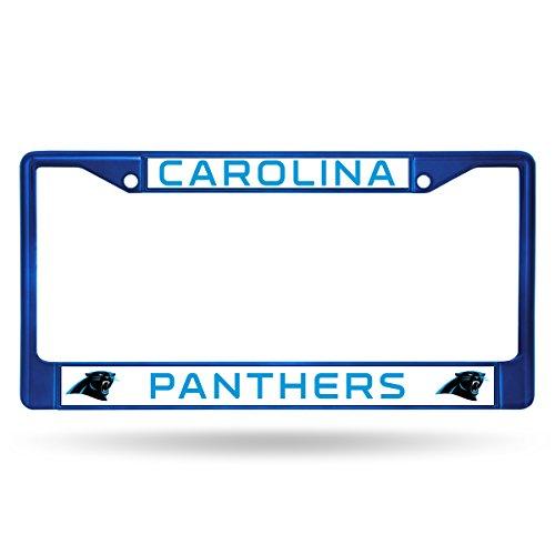 Rico NFL Carolina Panthers Colored Chrome Plate Frame, (Nfl Shop Panthers)