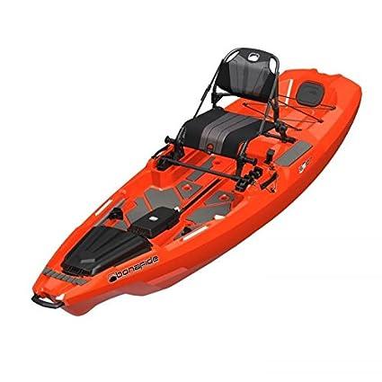 amazon com bonafide ss107 hondo orange fishing kayak in stock at