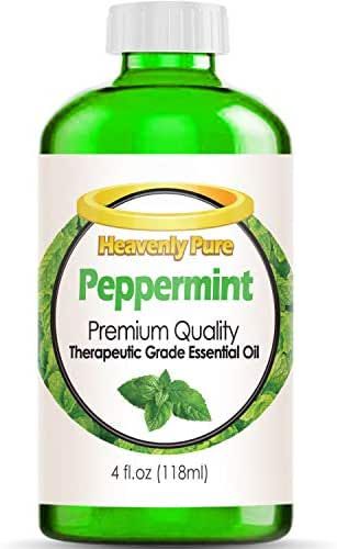 Peppermint Essential Oil (Huge 4 OZ - Bulk Size) Eye Dropper Included - 100% Pure & Natural Sweet Peppermint Aroma - Therapeutic Grade - Peppermint Oil is Great for Aromatherapy