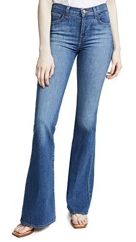 J Brand Women's Valentina High Rise Flare Jeans, Endeavor, Blue, 26 ()